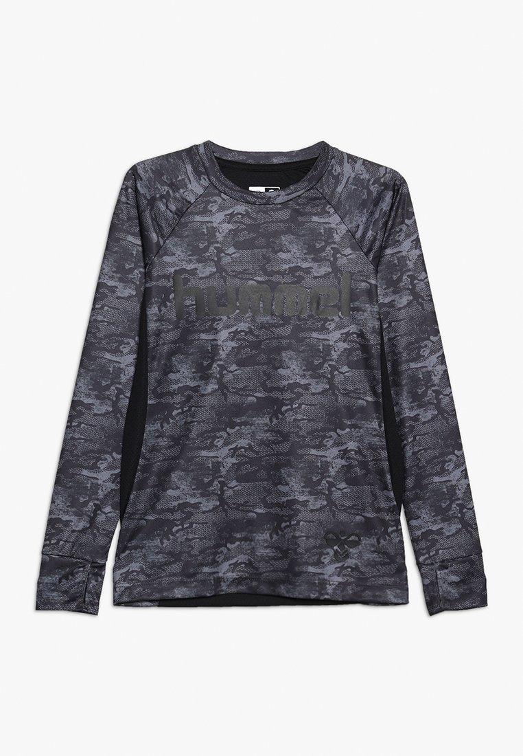 Hummel - ROAR - Langærmede T-shirts - black/grey