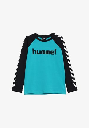 BOYS  - Long sleeved top - black/lake blue