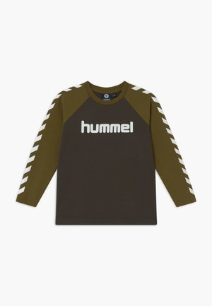 BOYS  - Long sleeved top - black olive