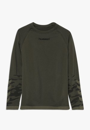 HMLLUKA SEAMLESS - Longsleeve - olive night