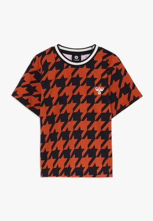 T-shirt print - burnt brick