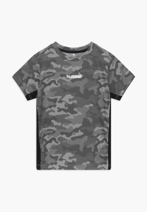HMLRUSSEL  - Print T-shirt - blue-grey