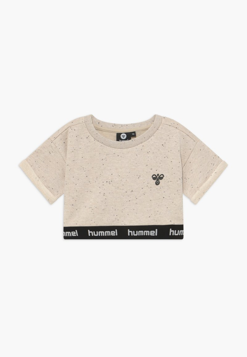 Hummel - CROPPED - T-shirt con stampa - cement