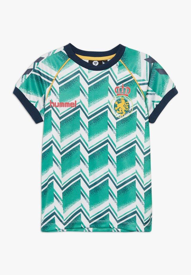HMLRUBEN  - Print T-shirt - everglade