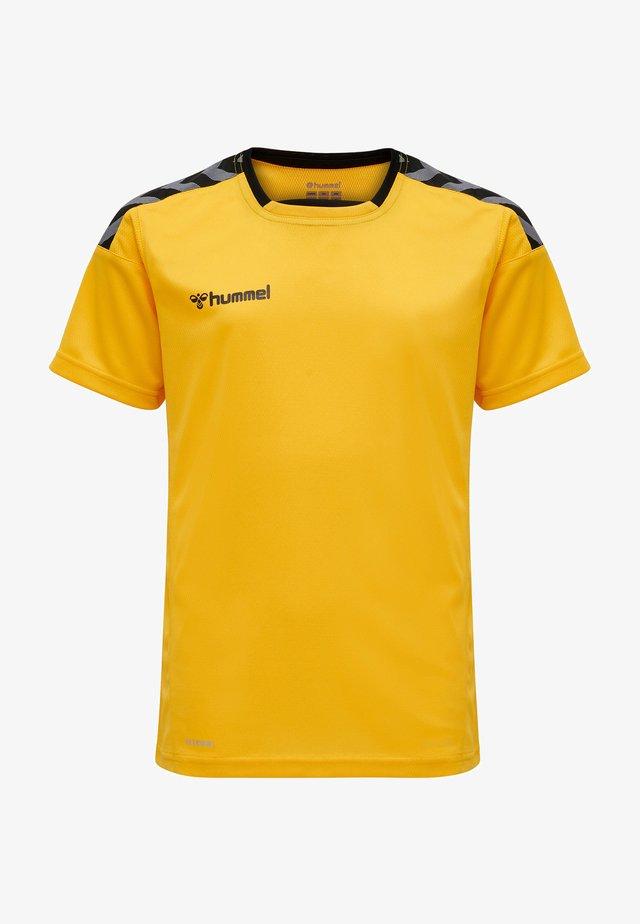 T-shirts print - sports yellow/black