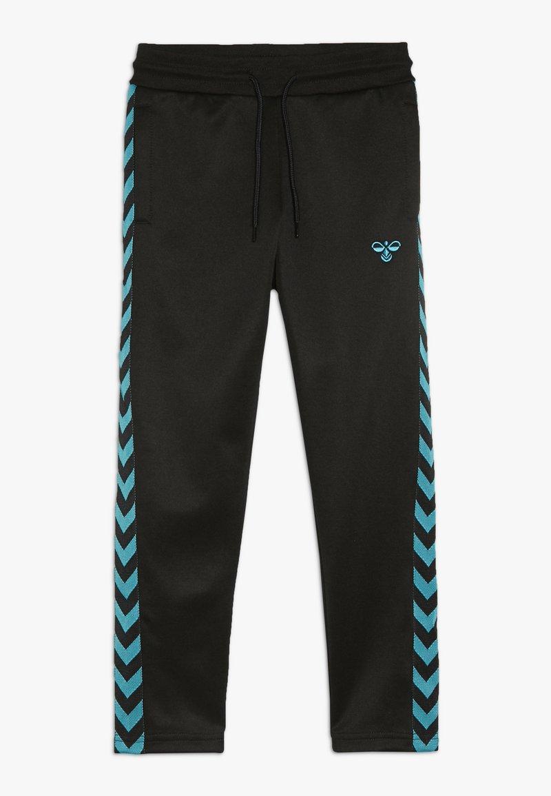 Hummel - KICK PANTS - Jogginghose - black/lake blue