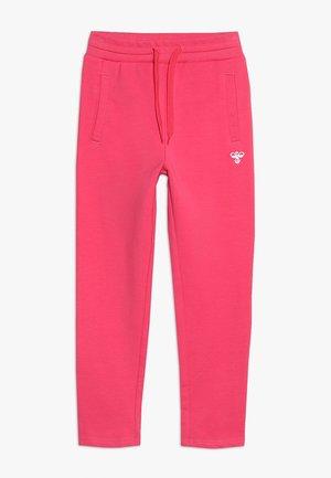 HMLUNO PANTS - Teplákové kalhoty - raspberry sorbet