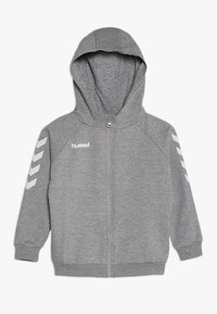 Hummel - HMLGO - Sweatjakke /Træningstrøjer - grey melange - 0
