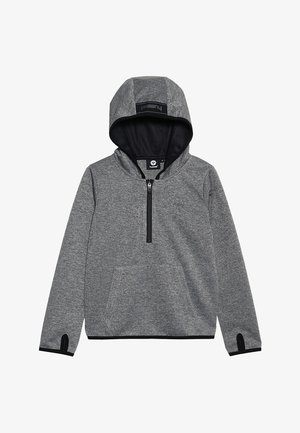 HMLTHOR HALF ZIP HOODIE - Long sleeved top - medium melange