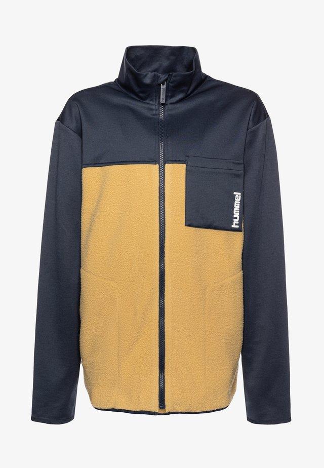 HMLOSCAR ZIP  - Fleece jacket - blue nights
