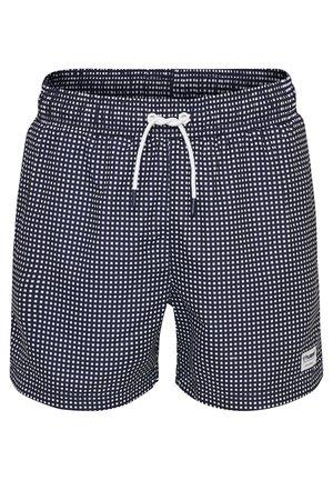 HMLHUDSON  - Swimming shorts - peacoat/white
