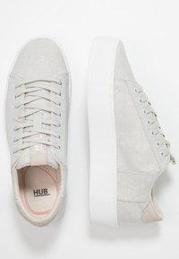 HUB - HOOK XL - Trainers - neutral grey/white - 3