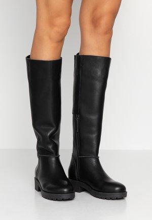 MIRA - Platåstøvler - black