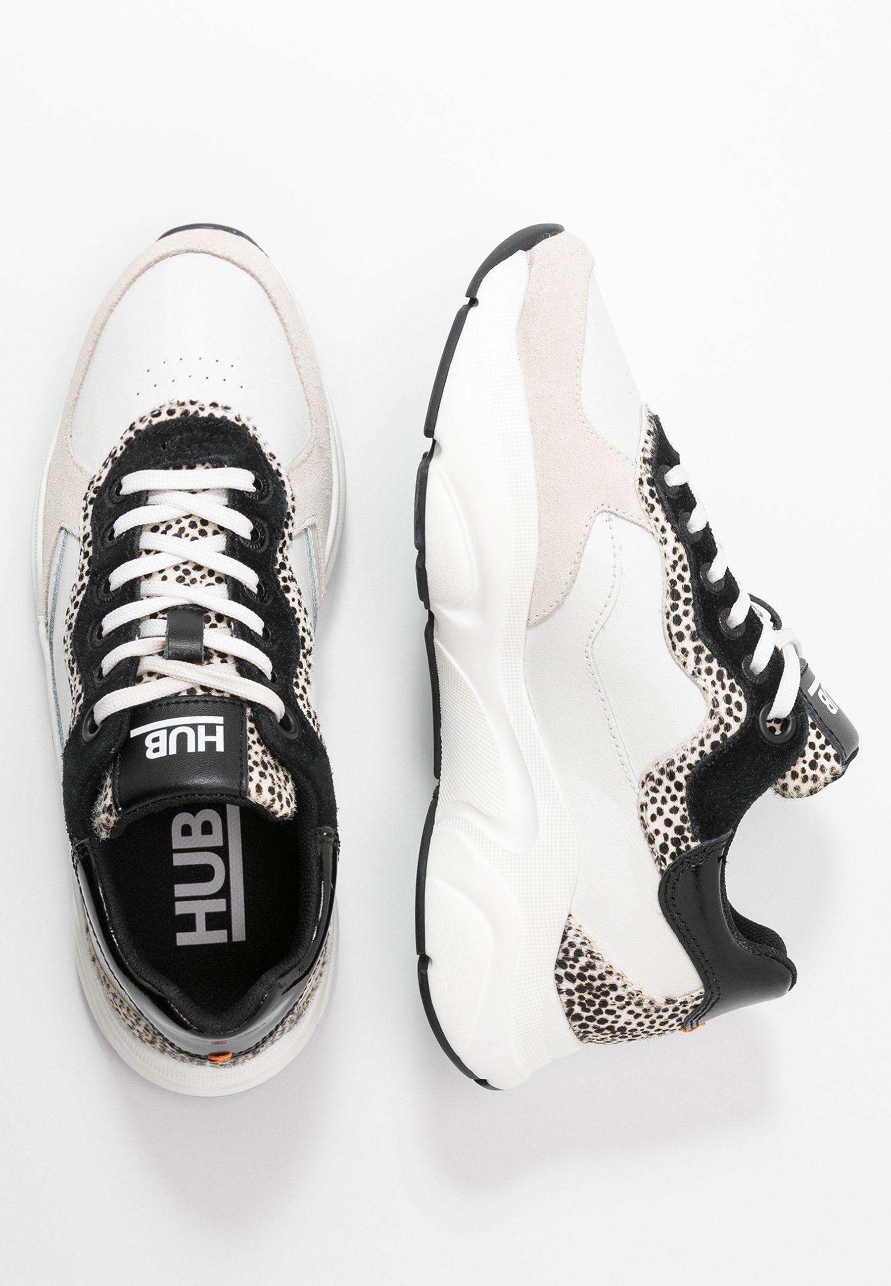 HUB ROCK - Sneakersy niskie - offwhite/cheetah/black