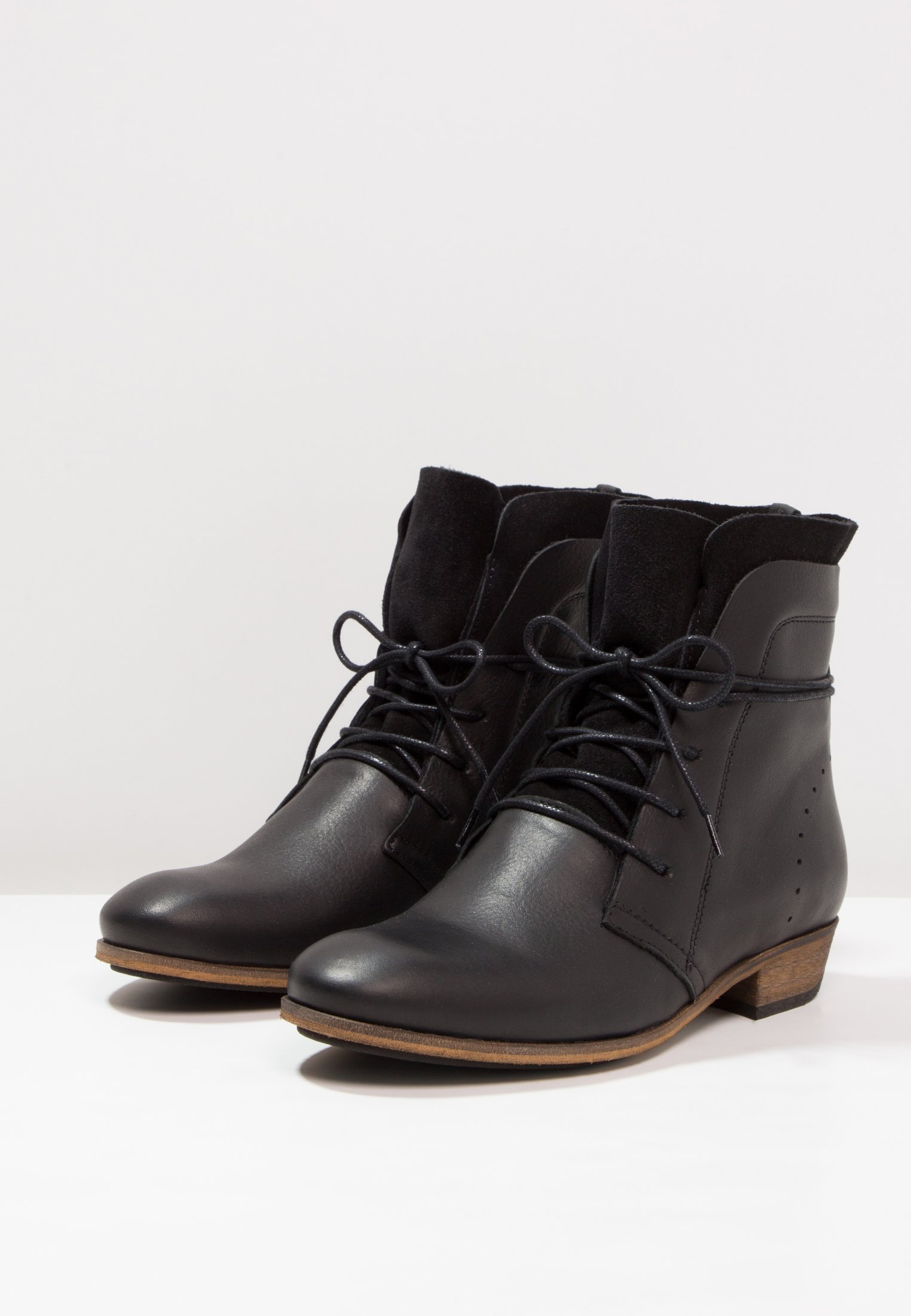 natural Hub Lacets Black À HallyBottines YEDWHI29