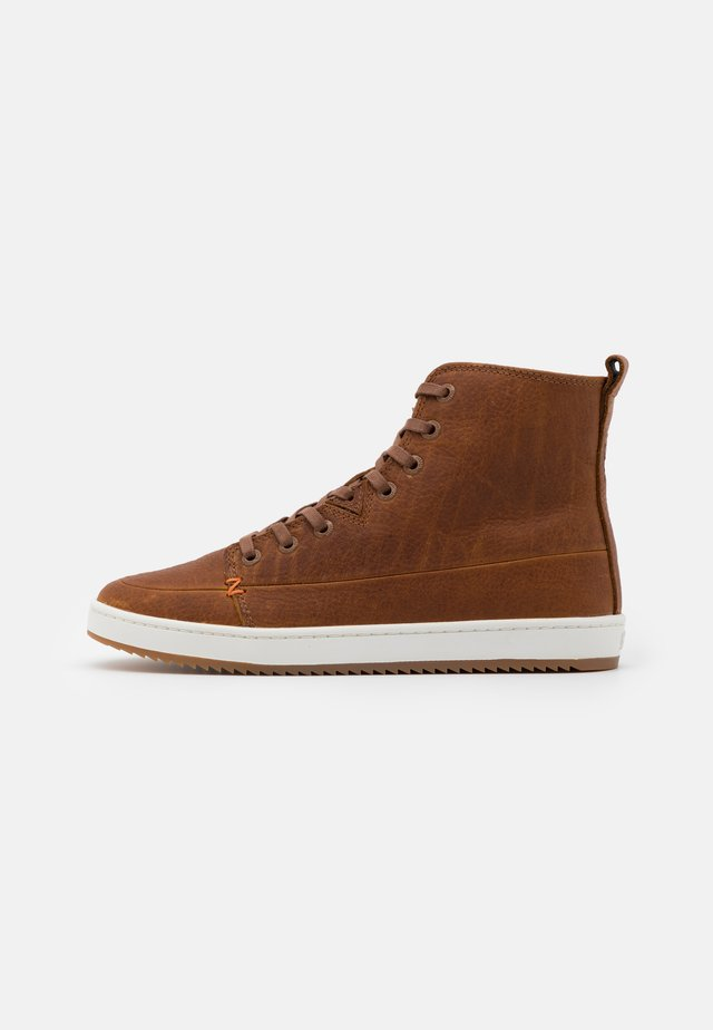 BASE - Ankle boots - cognac/off white