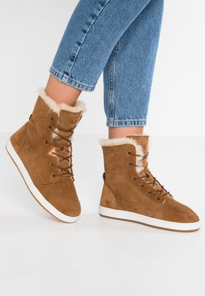 CHES 2.0 - Lace-up ankle boots - brown/offwhite