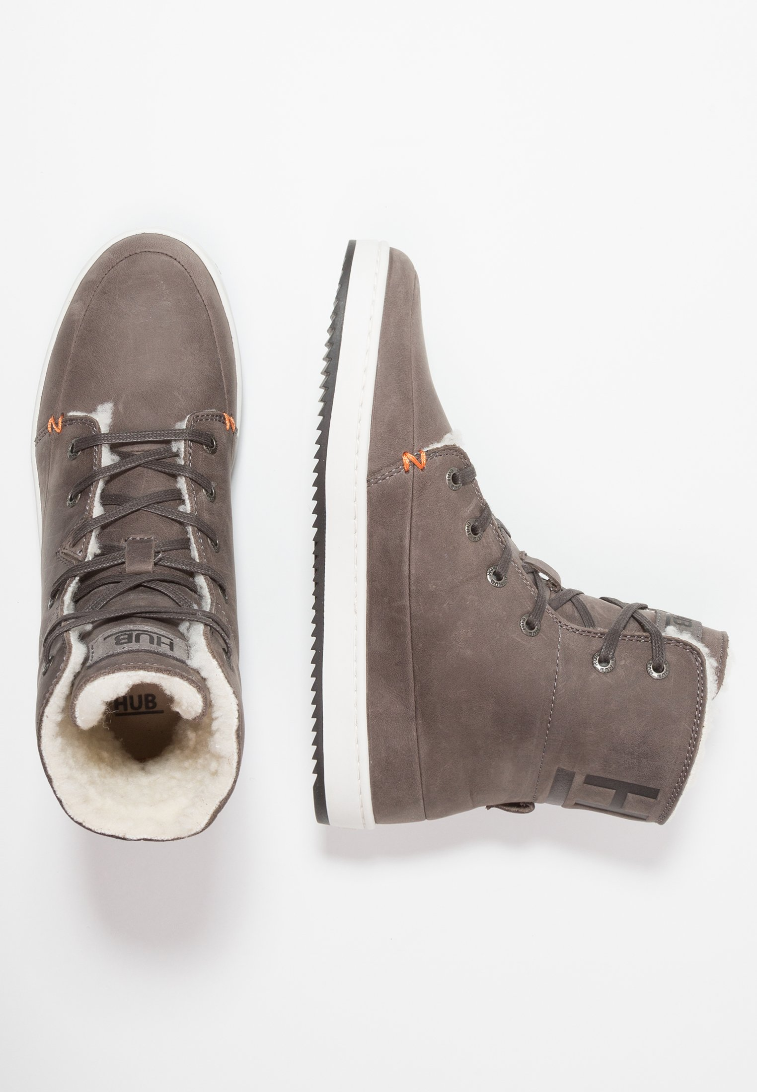 HUB CHESS - High-top trainers - grey/offwhite/black