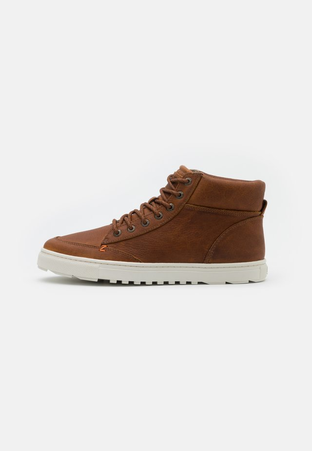 GLASGOW - Lace-up ankle boots - cognac/offwhite
