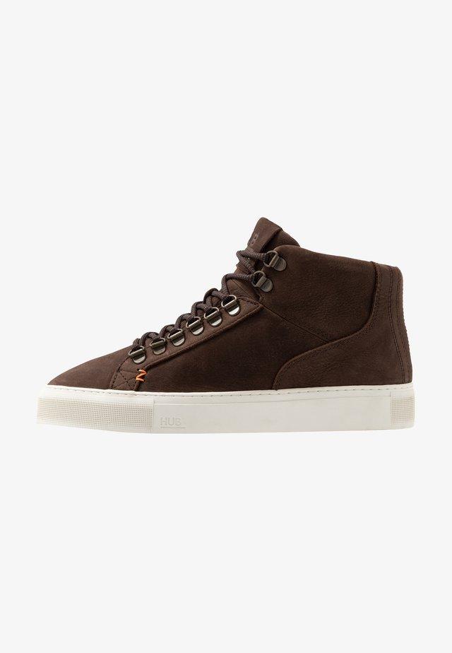 MURRAYFIELD - Sneakers high - dark brown/offwhite