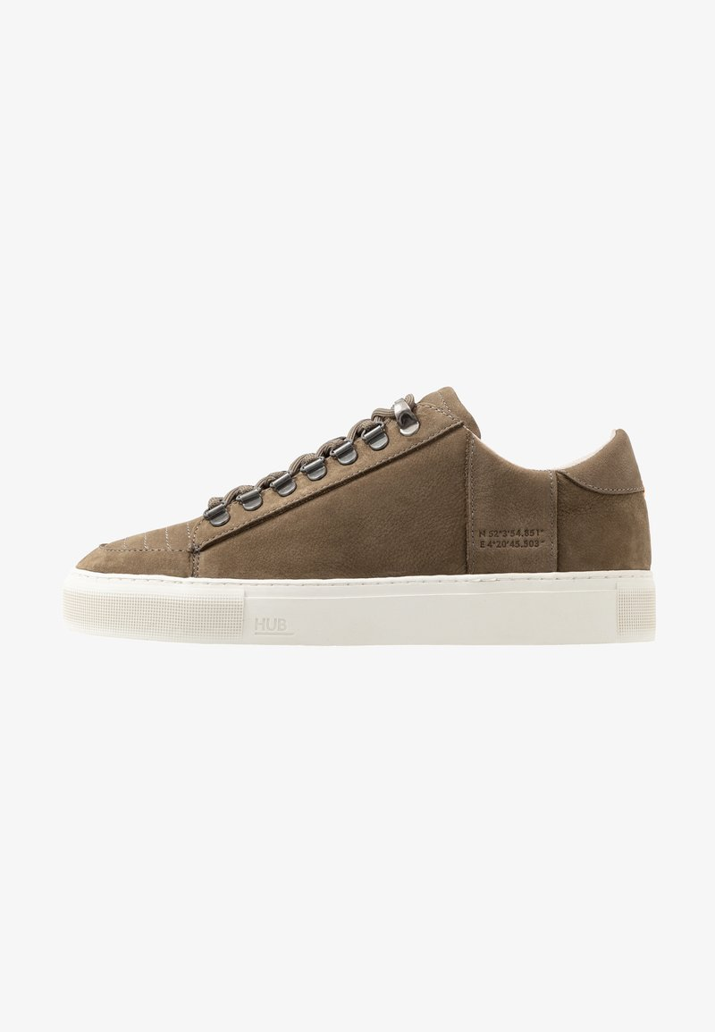 HUB - TOURNAMENT - Sneakers - dark olive/offwhite