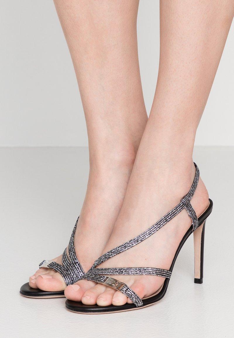HUGO - MAYFAIR - Korolliset sandaalit - black