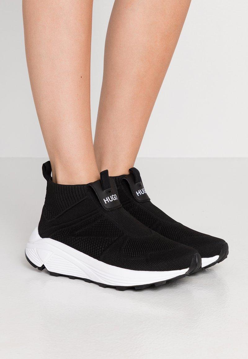 HUGO - HORIZON RUNN SOCK - Sneakers hoog - black