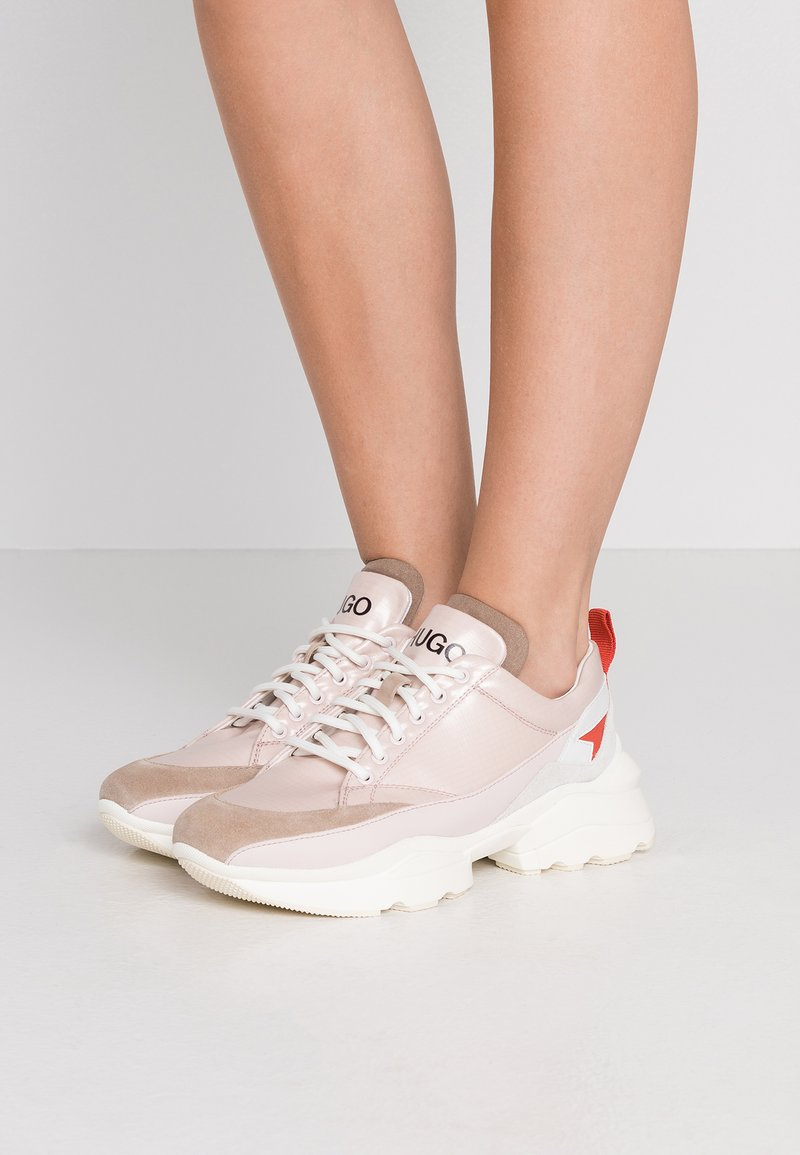 HUGO - MIA LACE UP - Trainers - open pink