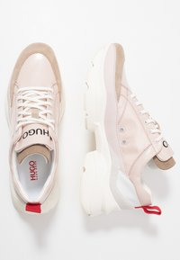 HUGO - MIA LACE UP - Trainers - open pink - 3
