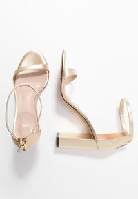 HUGO - EXCLUSIVE APRIL EFFECT - High heeled sandals - champagne - 3