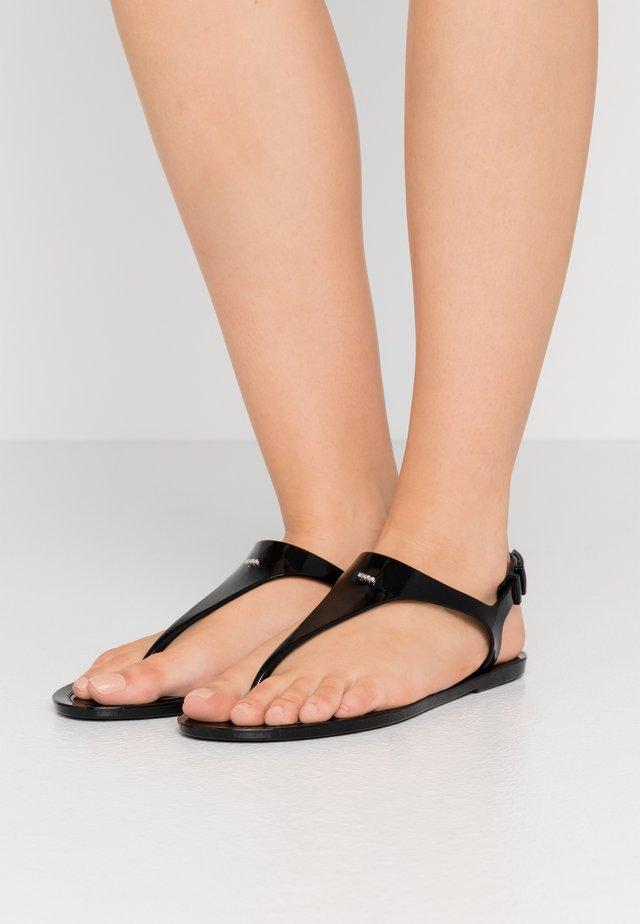 EMMA FLAT - Bade-Zehentrenner - black