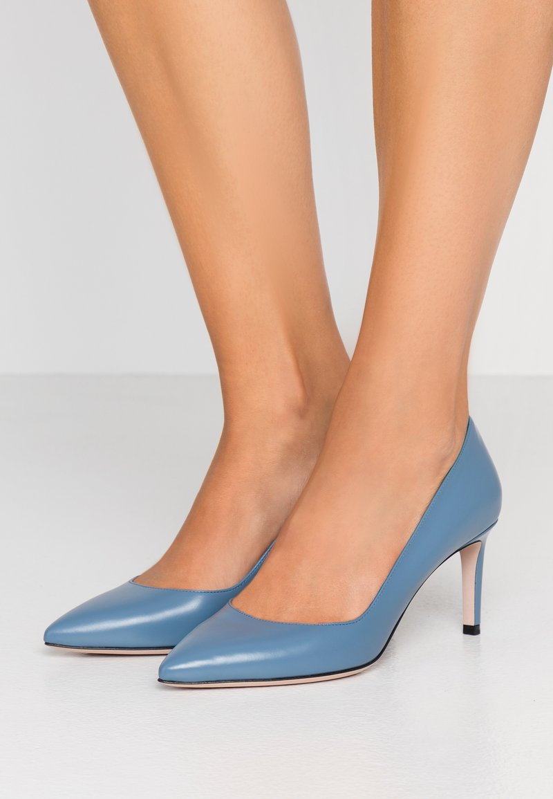 HUGO - HELLIA - Pumps - uniform blue