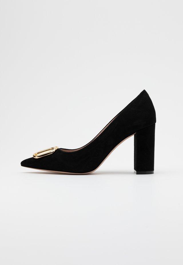 PIPER  - Høye hæler - black/gold
