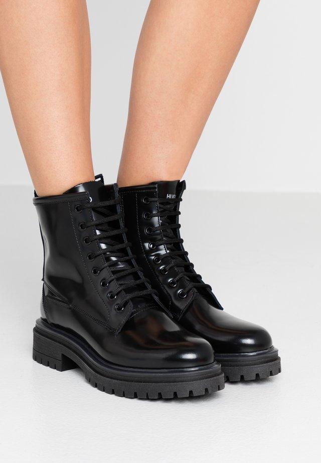ALPHA BOOTIE - Lace-up ankle boots - black