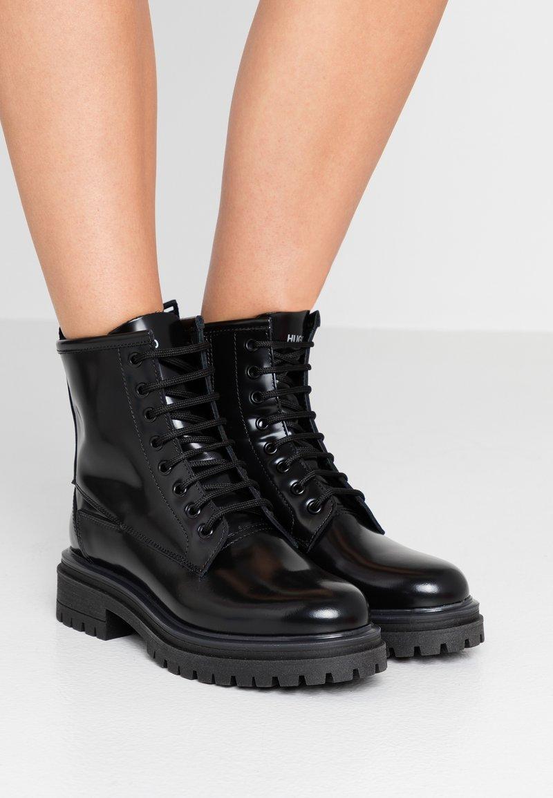 HUGO - ALPHA BOOTIE - Lace-up ankle boots - black