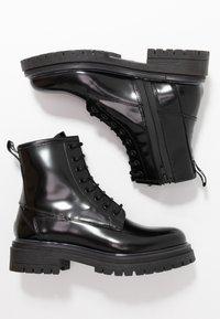 HUGO - ALPHA BOOTIE - Lace-up ankle boots - black - 3