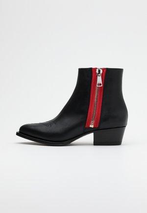 ISABEL LOW BOOTIE ZIP  - Korte laarzen - black