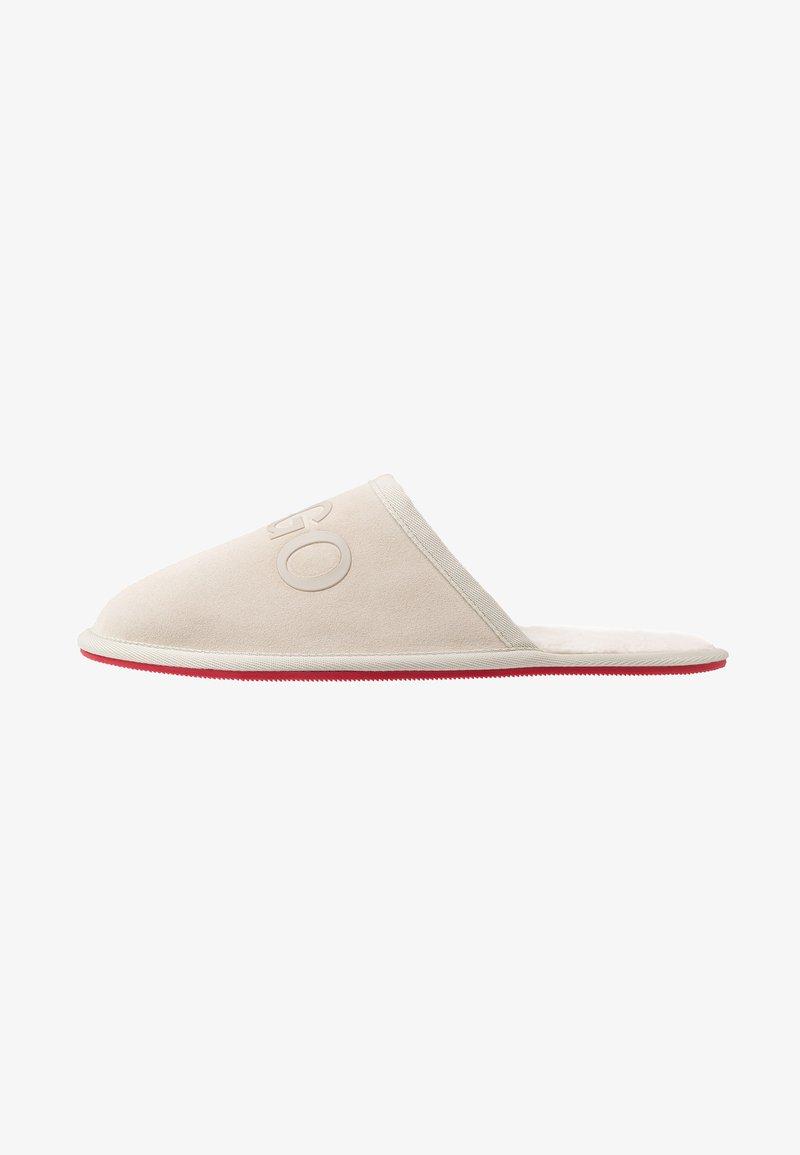 HUGO - COZY SLIP - Slippers - light beige