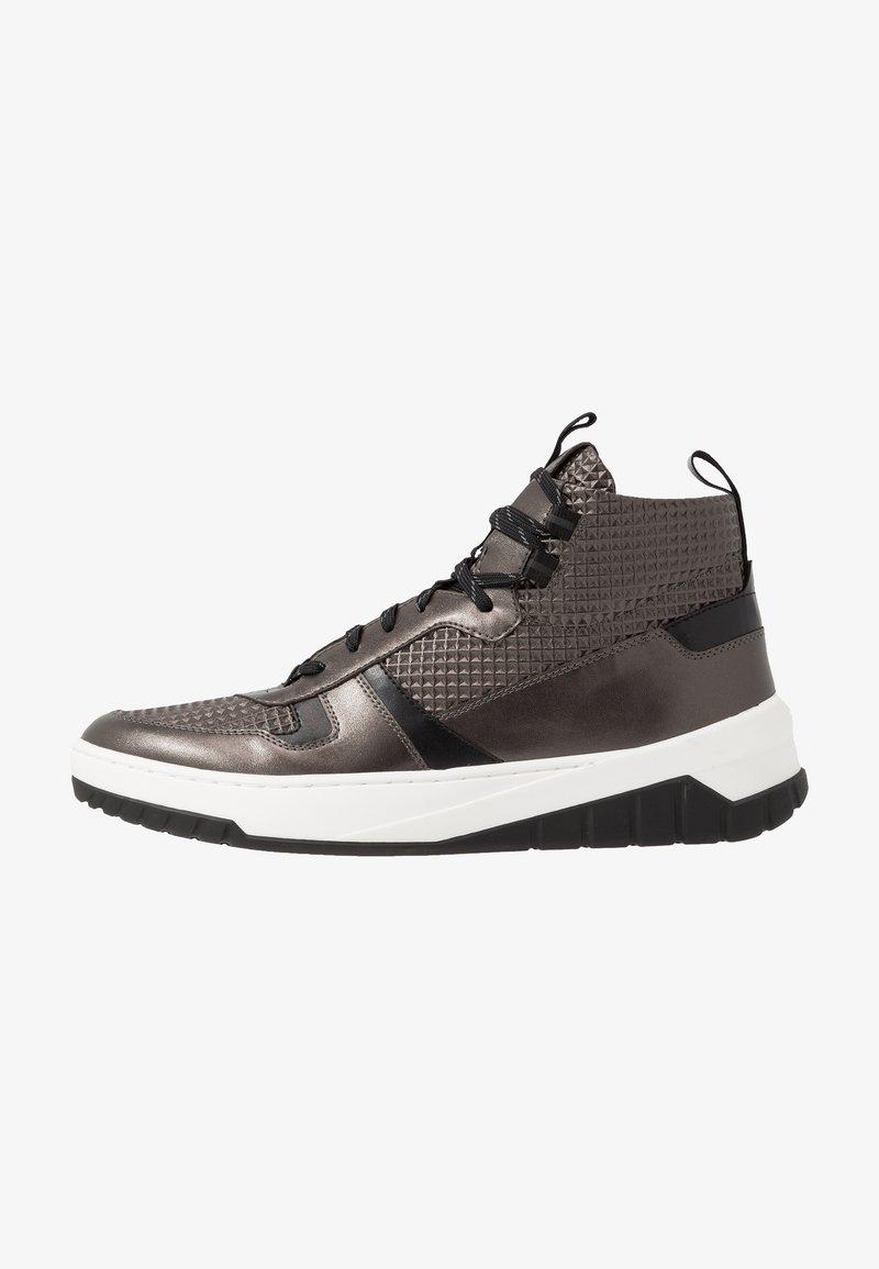 HUGO - MADISON - Sneakersy wysokie - dark grey
