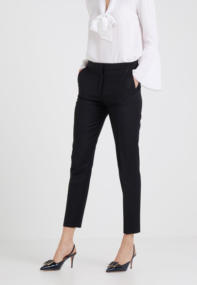 HUGO - HEFENA - Oblekové kalhoty - black