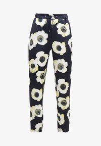HUGO - HOLANI - Spodnie materiałowe - dark blue/off-white/light yellow - 3
