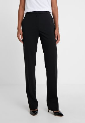 THE REGULAR TROUSERS - Kangashousut - black