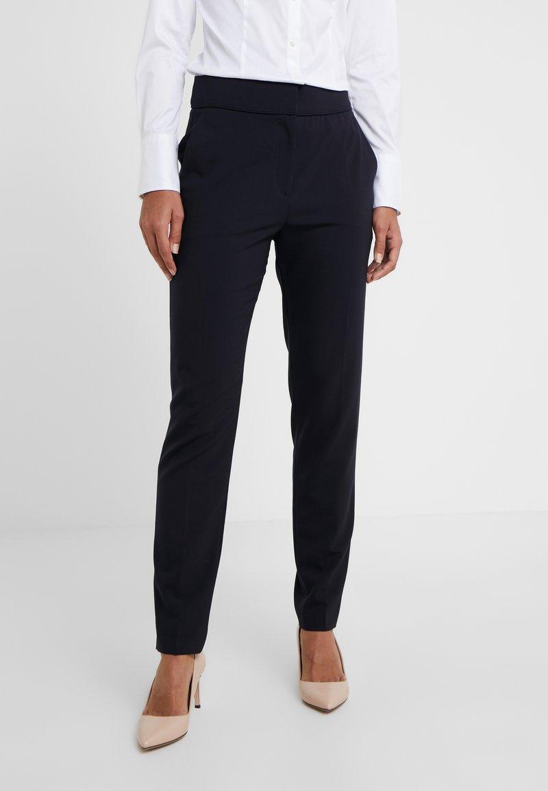 HUGO - THE CROPPED TROUSER - Tygbyxor - navy