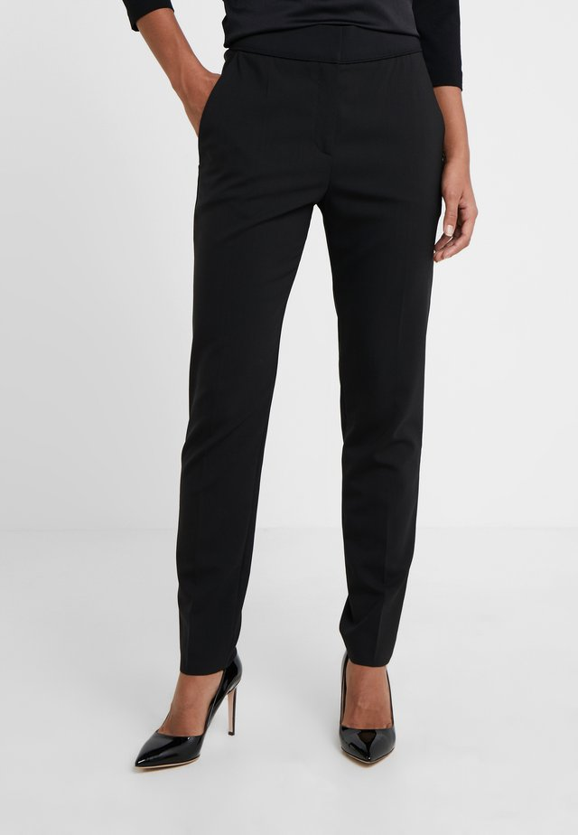 THE CROPPED TROUSER - Tygbyxor - black