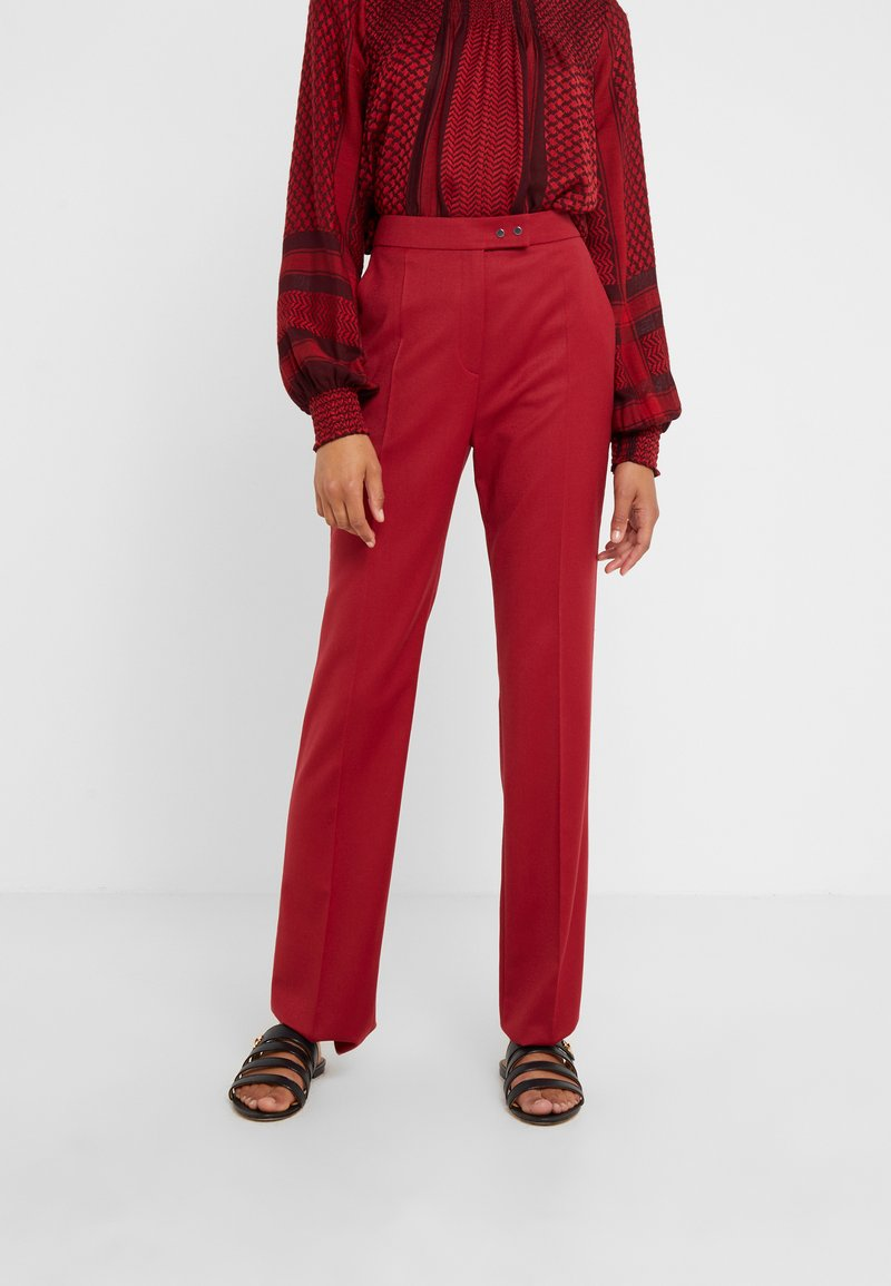 HUGO - HELINES - Trousers - open red
