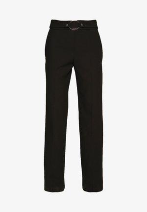 HIMESA - Spodnie materiałowe - black
