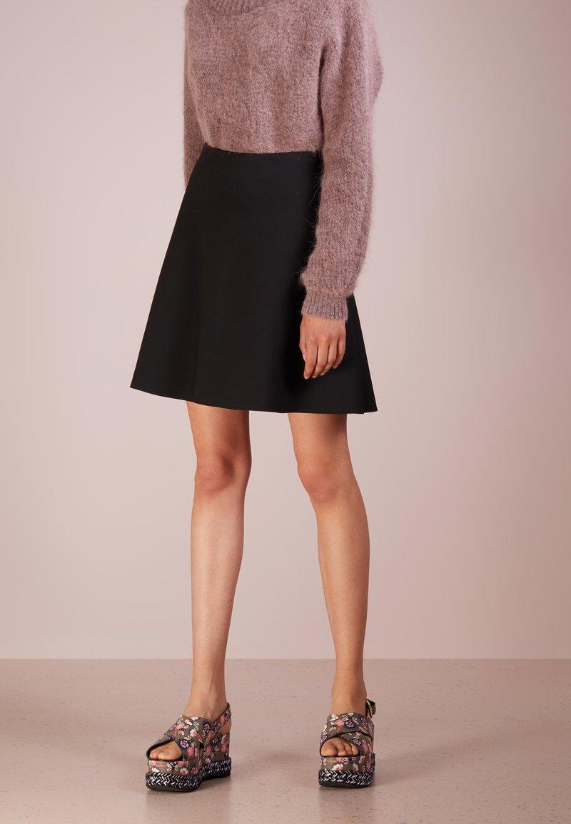 HUGO - RIEKA - A-snit nederdel/ A-formede nederdele - black