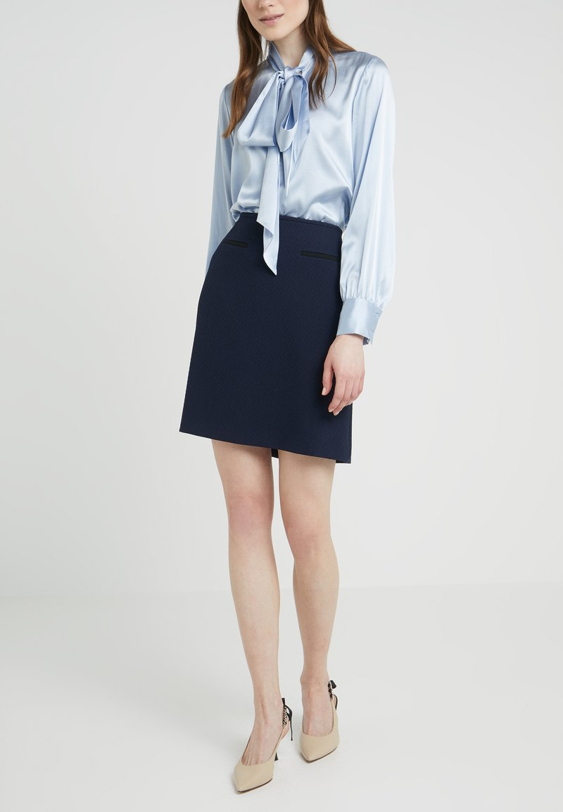 HUGO - RELINI - A-line skirt - open blue