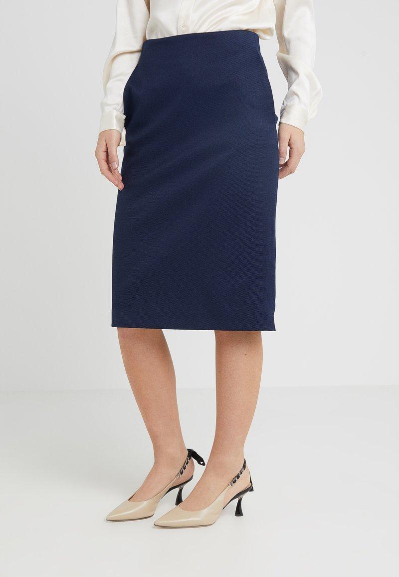 HUGO - RIANAS - Spódnica ołówkowa  - open blue