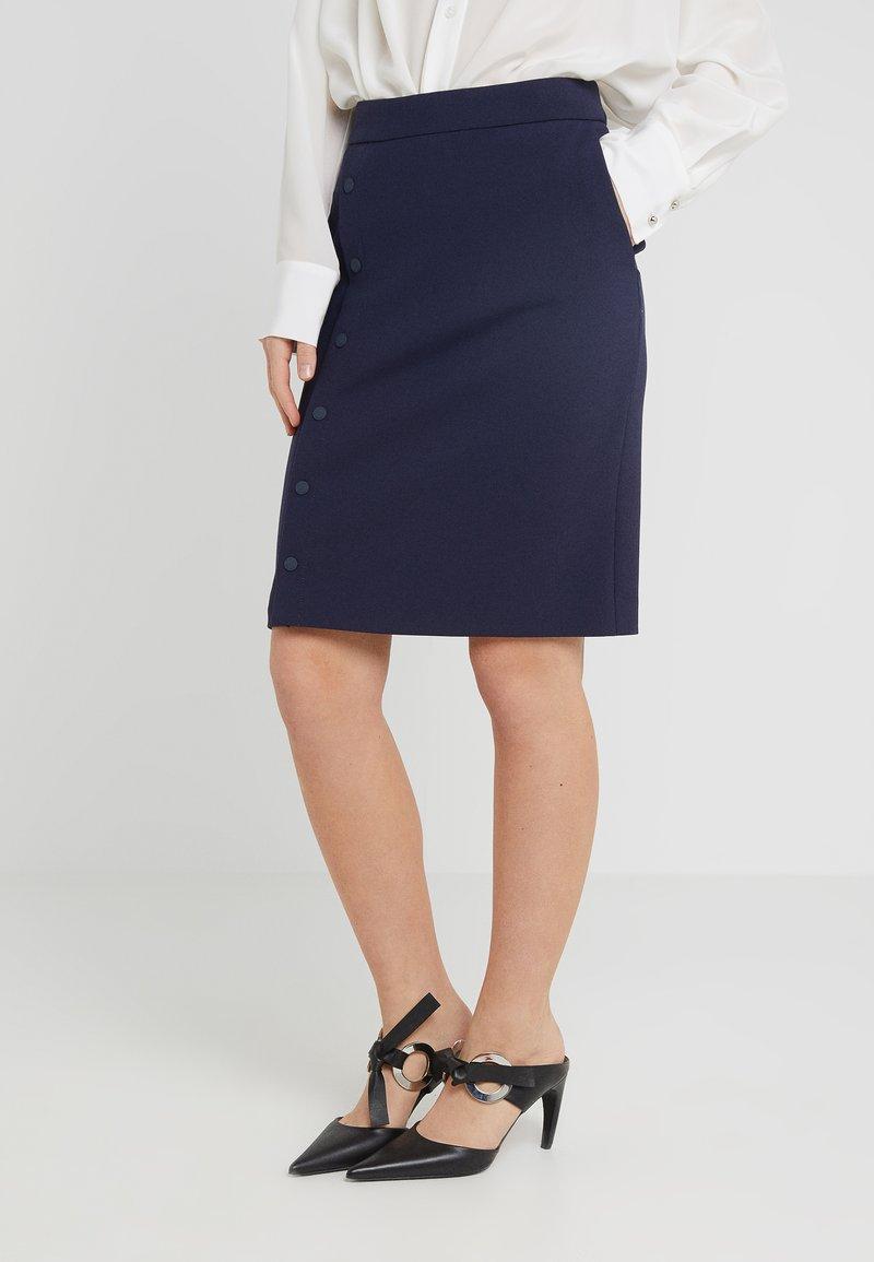 HUGO - RELASA - Pencil skirt - open blue
